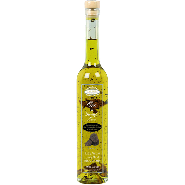 Tartufi Jimmy Gold - Extra Virgin Olive Oil Black Truffle Natural Flavouring and truffle slices 100ml (15)