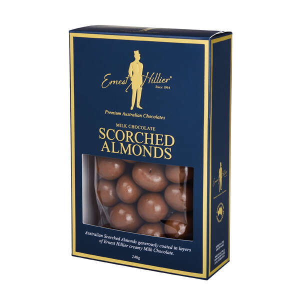 Ern. Hill. Box Milk Scorched Almonds 240g