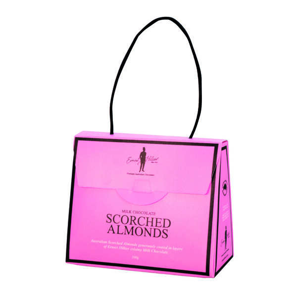 Ern. Hill. Pink Hand Bag Scorched Almonds 200g