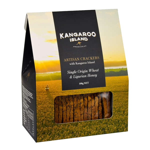 Kangaroo Island Wheat & Ligurian Honey Seed Cracker 100g