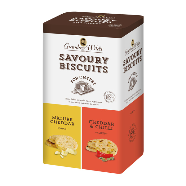 Grandma Wilds Oaty Biscuits for Cheese Gift Tin 260g (6)