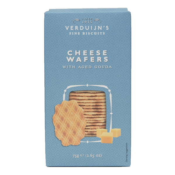 Verduijn's Cheese Wafers with aged Gouda Blue Box 75g (12)